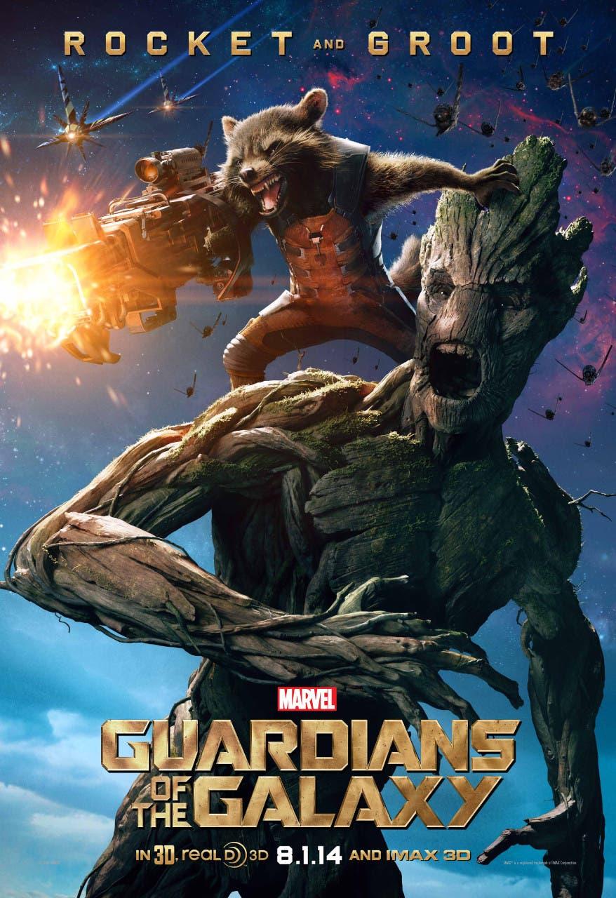 Groot y Rocket Racoon nuevo póster de Guardianes de la galaxia