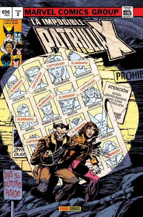 Portada X-Men diás del futuro pasado