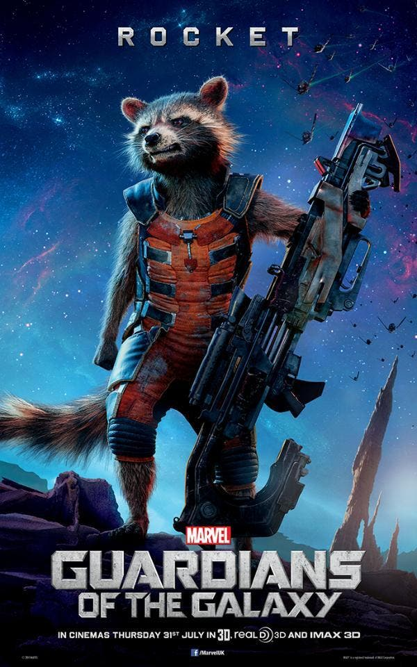 Rocket Raccoon Poster Guardianes de la galaxia