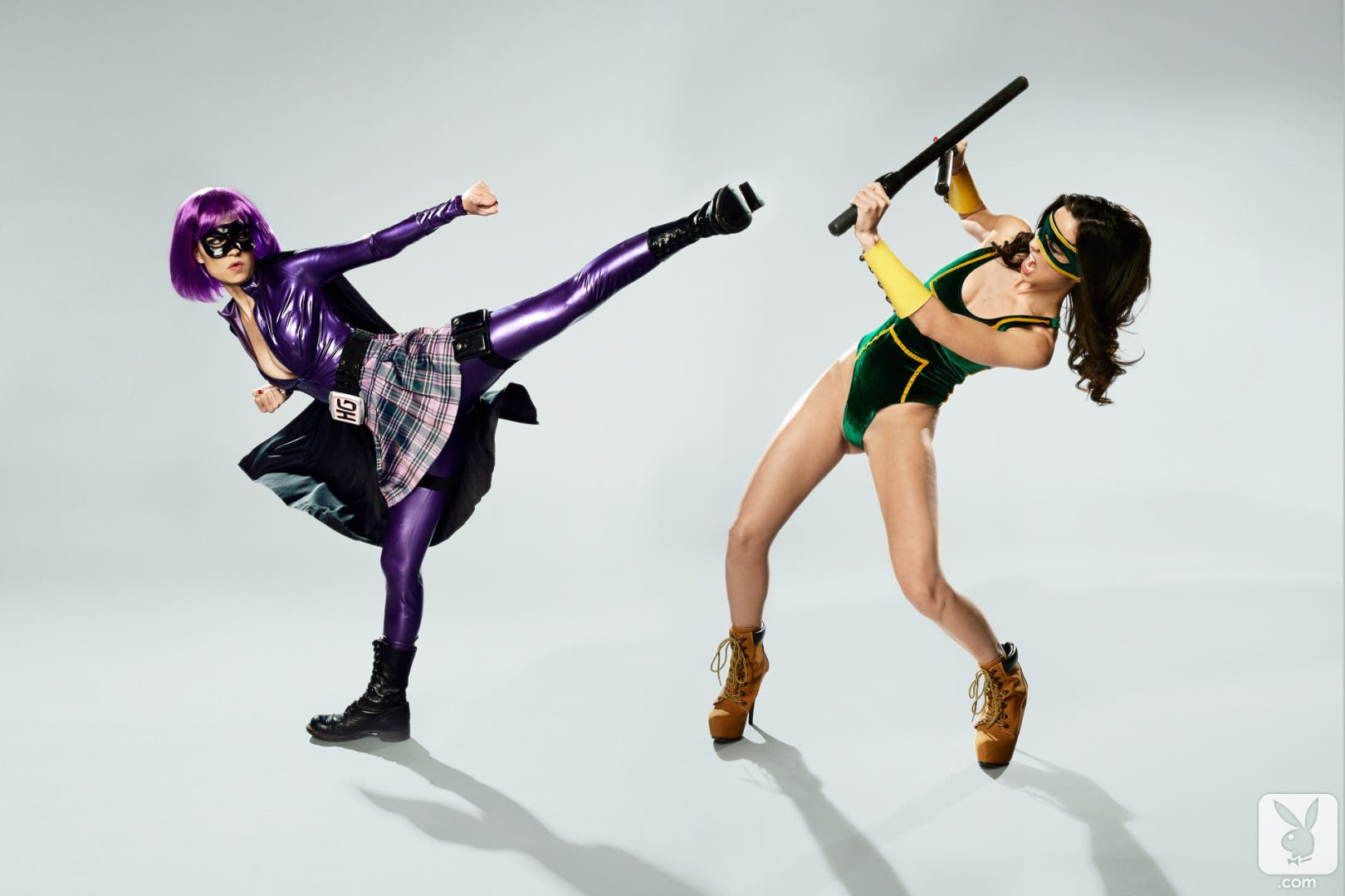 Pamela Horton es Hit Girl y Kick-Ass