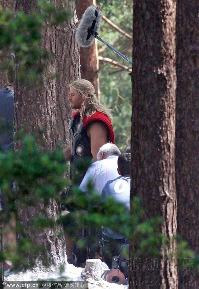 Thor en el rodaje de Los Vengadores: La era de Ultron