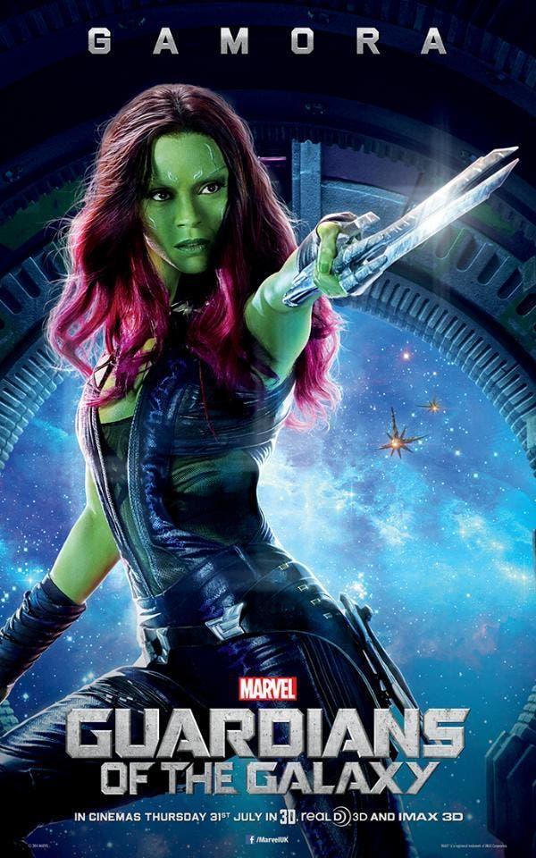 Poster de Gamora Guardianes de la Galaxia
