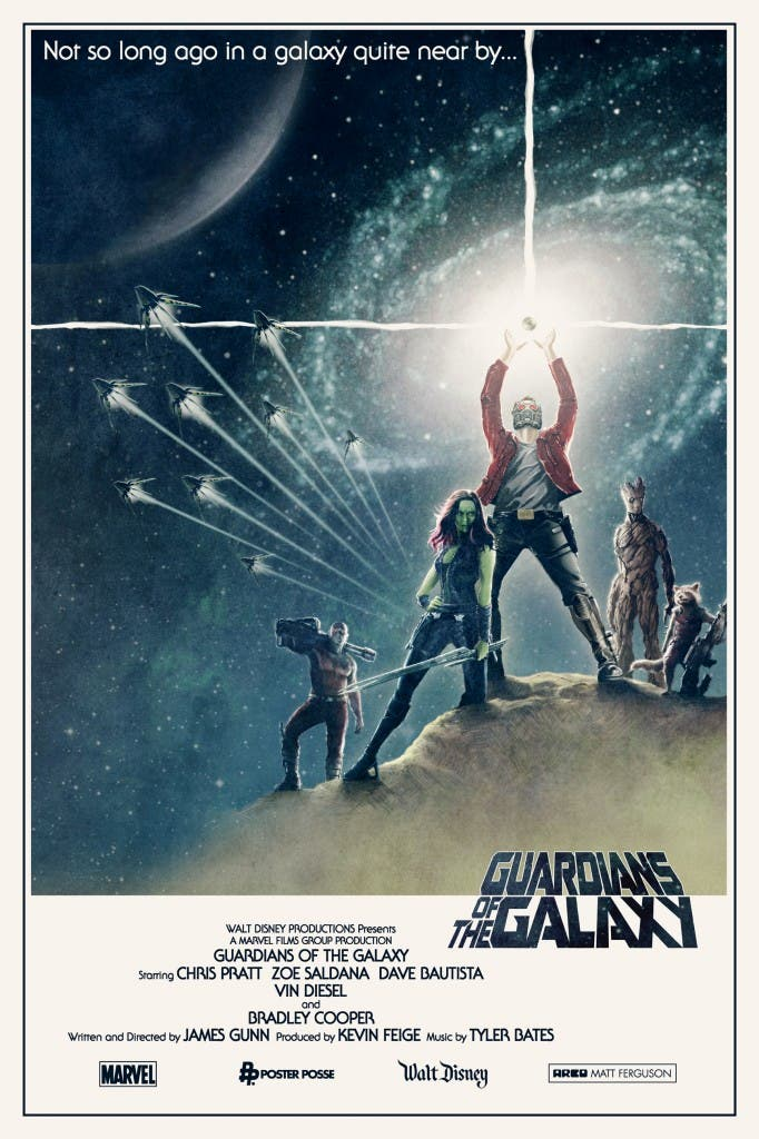 Póster fan de 'Guardianes de la Galaxia'