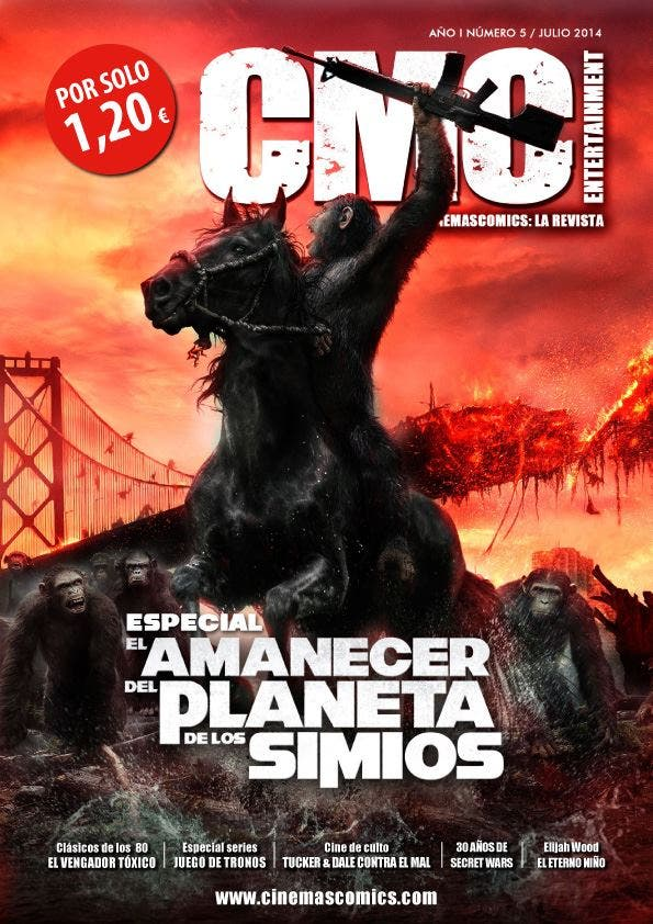 Portada Cinemascomics: La revista Nº 5 Julio 2014