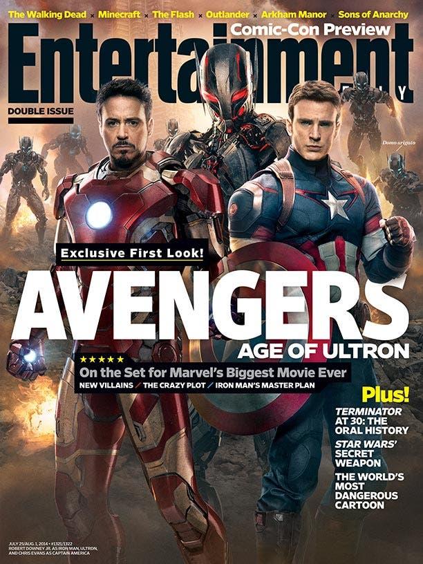 Portada de Entertainment Weekly dedicada a Los Vengadores La era de Ultron