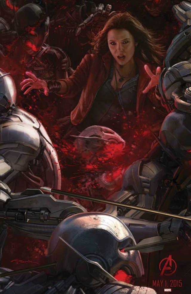 La Bruja Escarlata en Los Vengadores: La era de Ultron