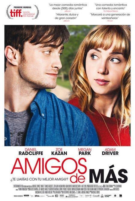 Póster 'Amigos de mas' la nueva pelicula de Daniel Radcliffe