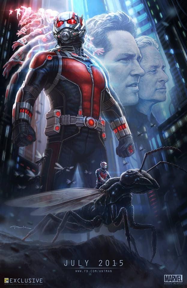 Póster Comic Con de San Diego de Ant-Man, realizado por Andy Park