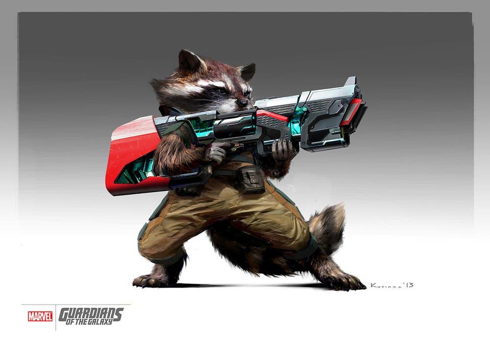 Rocket Racoon Concept art Guardianes de la Galaxia