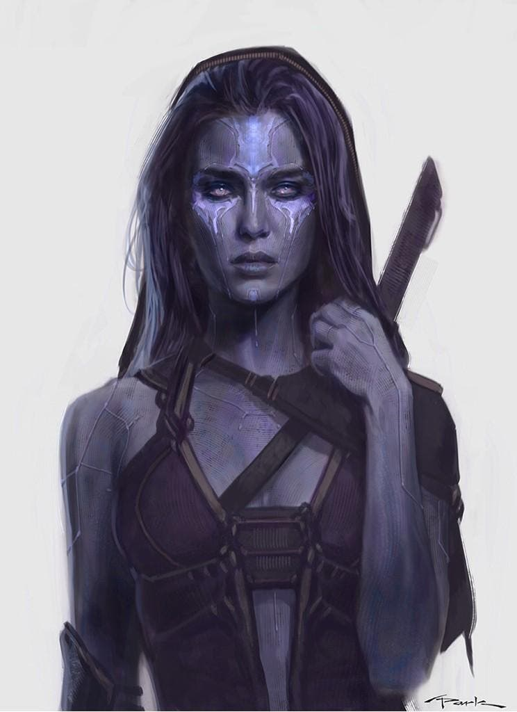 Gamora Concept art Guardianes de la Galaxia