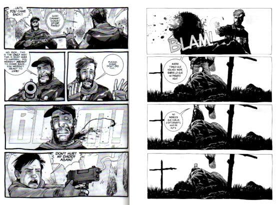 The Walking Dead Muerte de Shane en el cómic