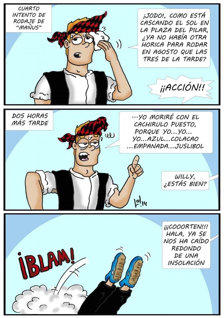 Tira cómica 073 de 'Willy, extra de cine y friki', de Luis Orús