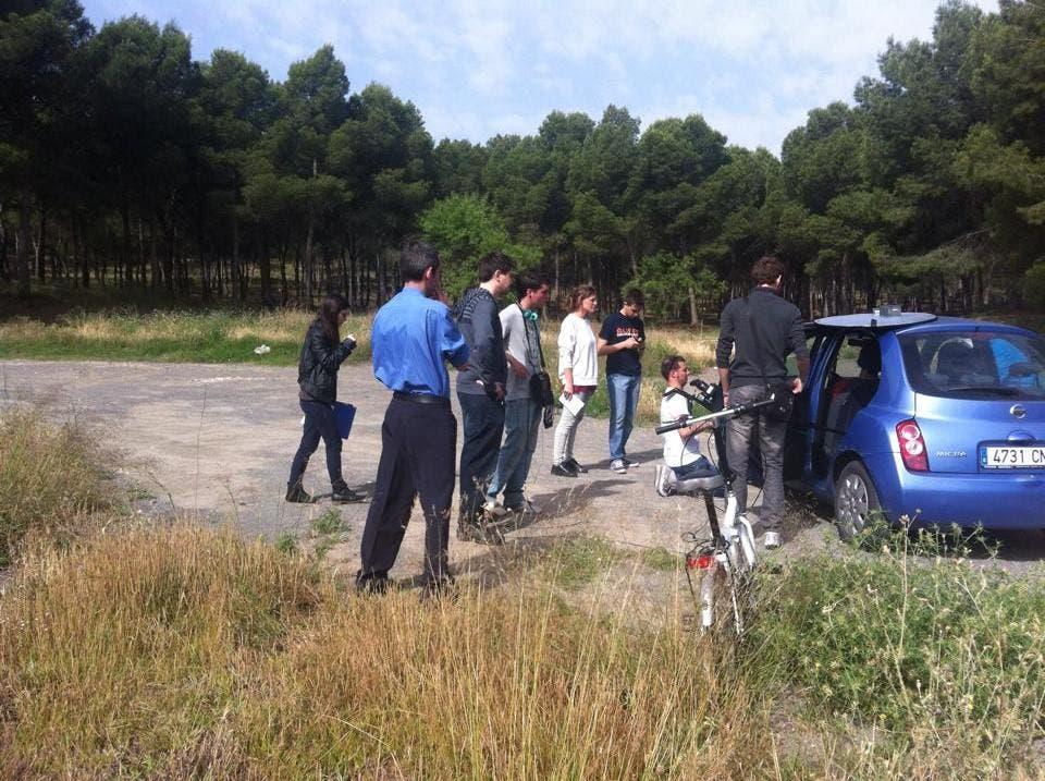 Imagen del rodaje de Despedida con José Luis Alemán