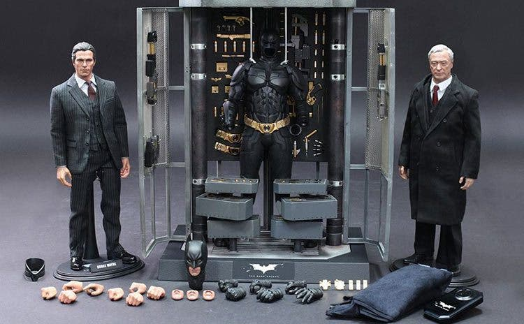 El caballero oscuro: La leyenda renace. Batman y Alfred de Hot Toys