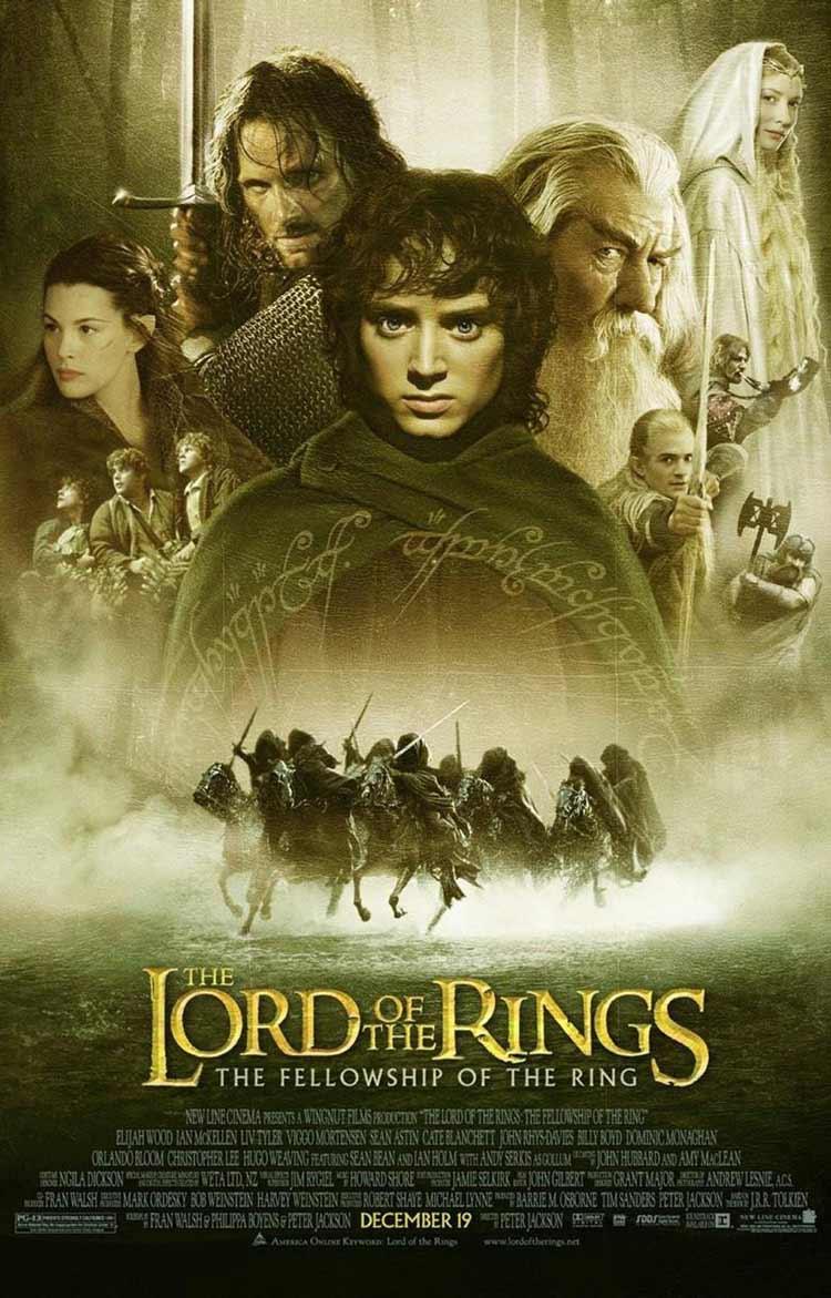 póster de La comunidad del anillo