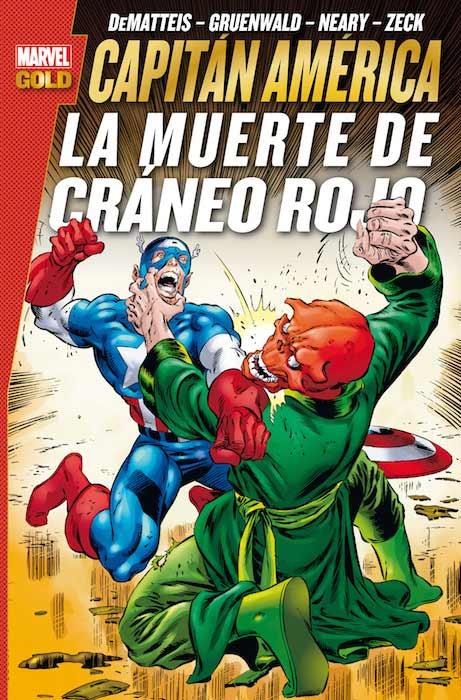 Portada del cómic 'Capitán América. La muerte de Cráneo Rojo'
