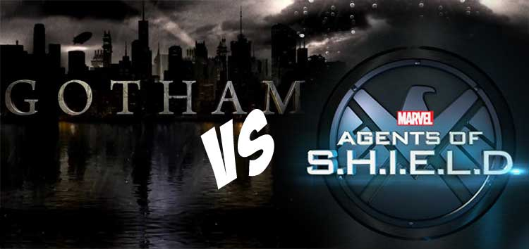 Gotham vs Agentes de SHIELD series de superhéroes sin superhéroes