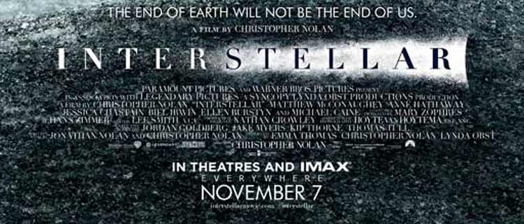 Nuevo póster de Interstellar de Christopher Nolan