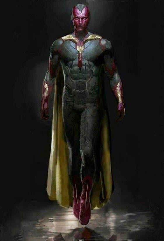 Así será Visión de Los Vengadores: La era de Ultron