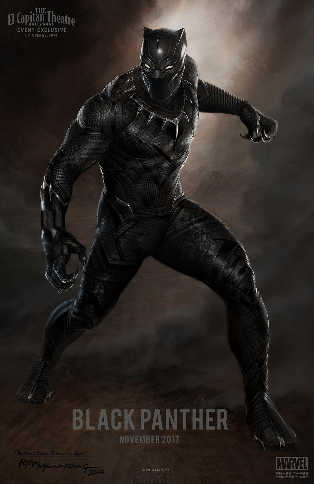 Concept art de Black Panter
