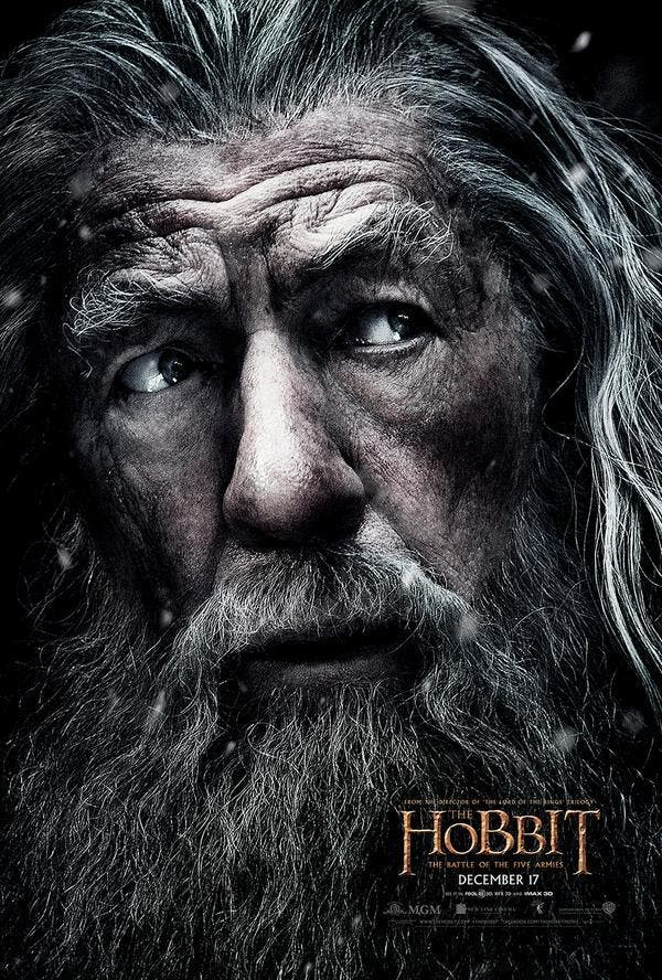 Ian McKellen es Gandalf