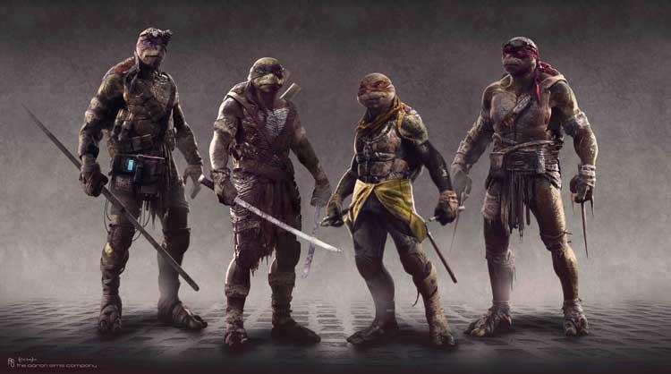 Concepts Art de Ninja Turltes