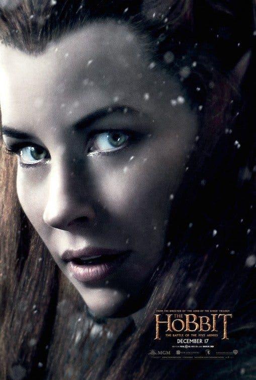 Poster Evangeline Lilly en el hobbit la batalla de los cinco ejercitos