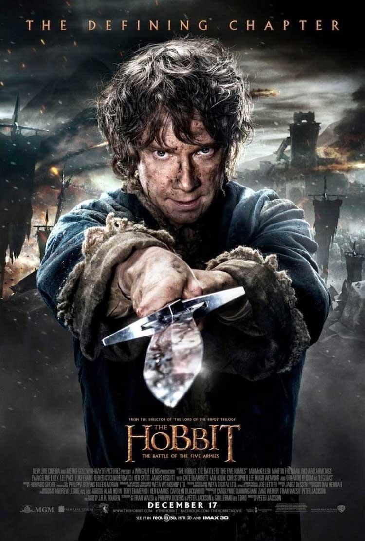 Bilbo en el nuevo póster de El Hobbit: La batalla de los cinco ejércitos