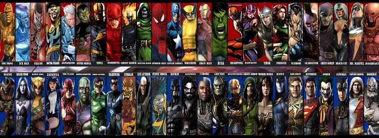 Марвел список персонажей в картинках
