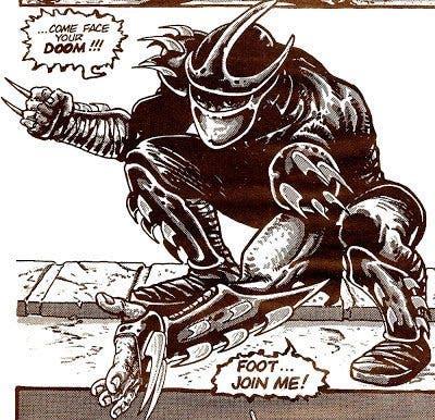 El malvado Shredder, el enemigo de las tortugas