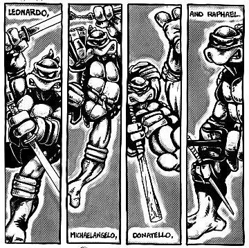 presentación personajes Tortugas Ninja
