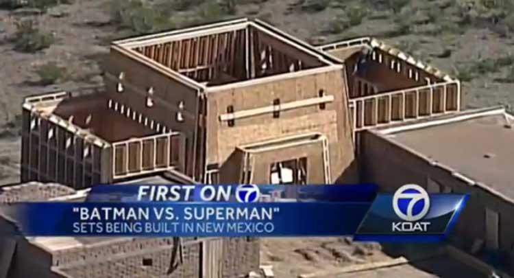 Están creando un set de rodaje enorme para Batman v Superman: Dawn of Justice