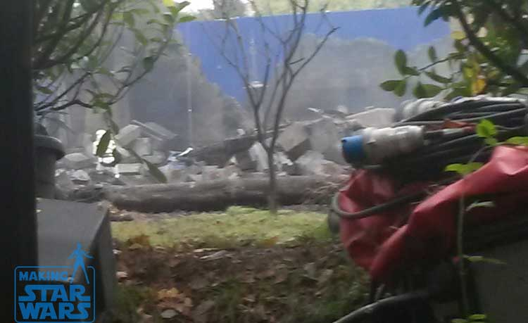 Los Stormtroopers en el rodaje de Star Wars: Episodio VII