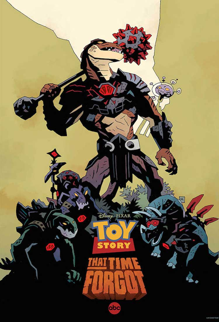 Póster de Mike Mignola de Toy Story That Time Forgot