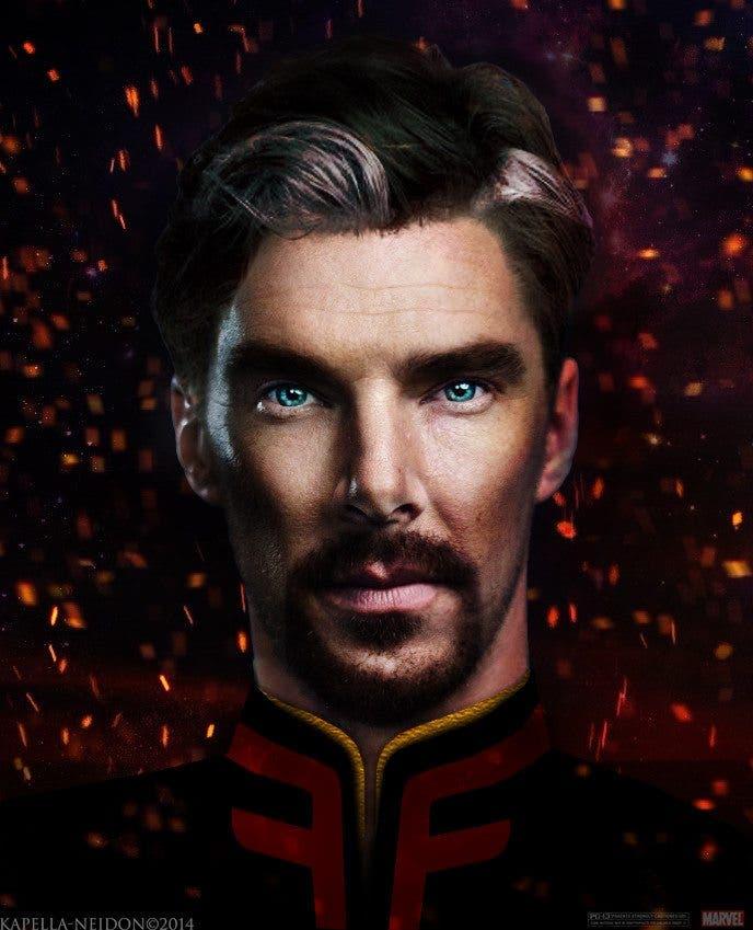 Fan art con Benedict Cumberbatch como Dr. Extraño