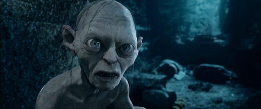 Gollum en 'El señor de los anillos: Las dos torres'