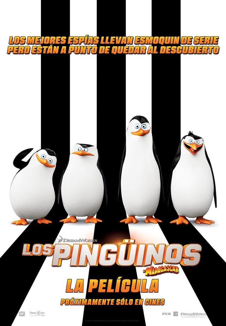 Póster Los Pinguinos de Madagascar la pelicula