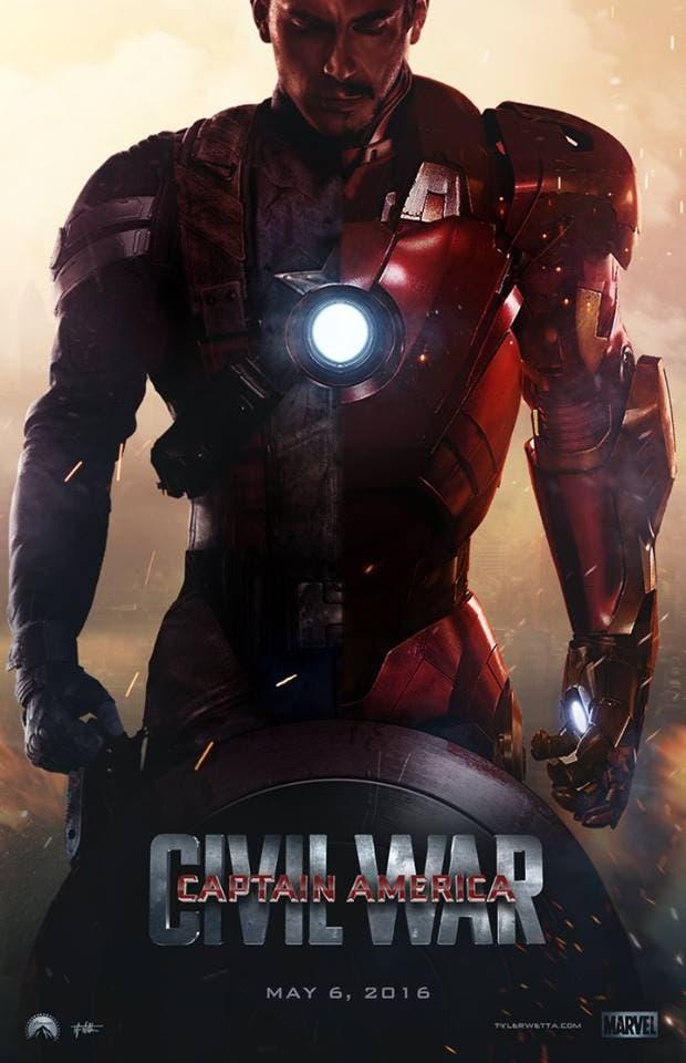 fan poster capitan america civil war
