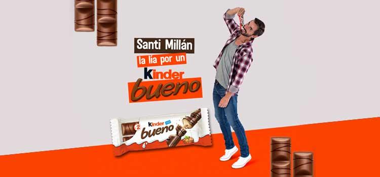 Santi Millan la lía por un Kinder Bueno