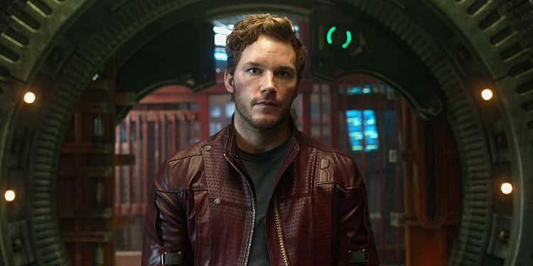 Chris Pratt como Star Lord Guardianes de la Galaxia
