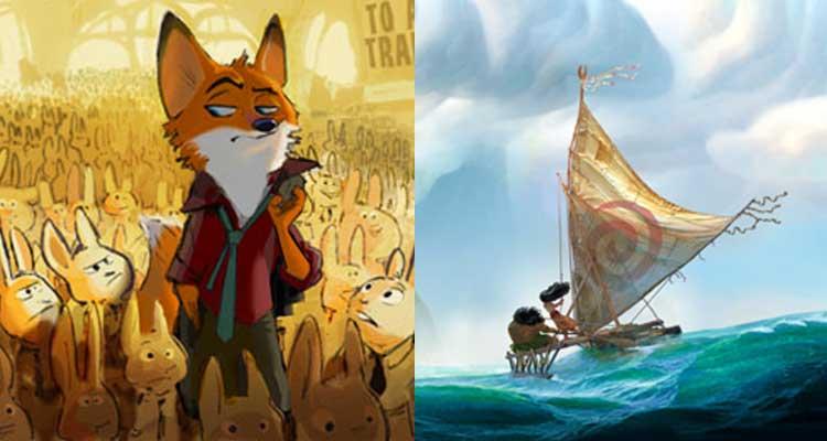 Disney pone fechas de estreno a sus películas Zootopia y Moana