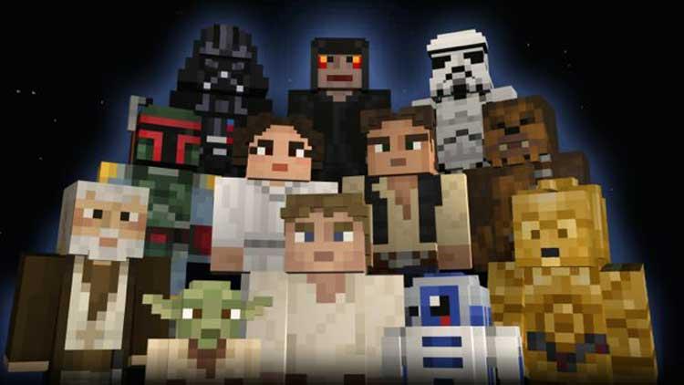 Star Wars se fusiona con Minecraft