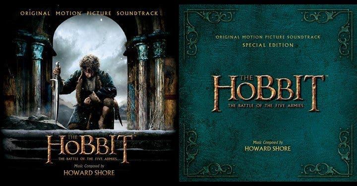 Portada del 'soundtrack' de 'El hobbit. La batalla de los cinco ejércitos'