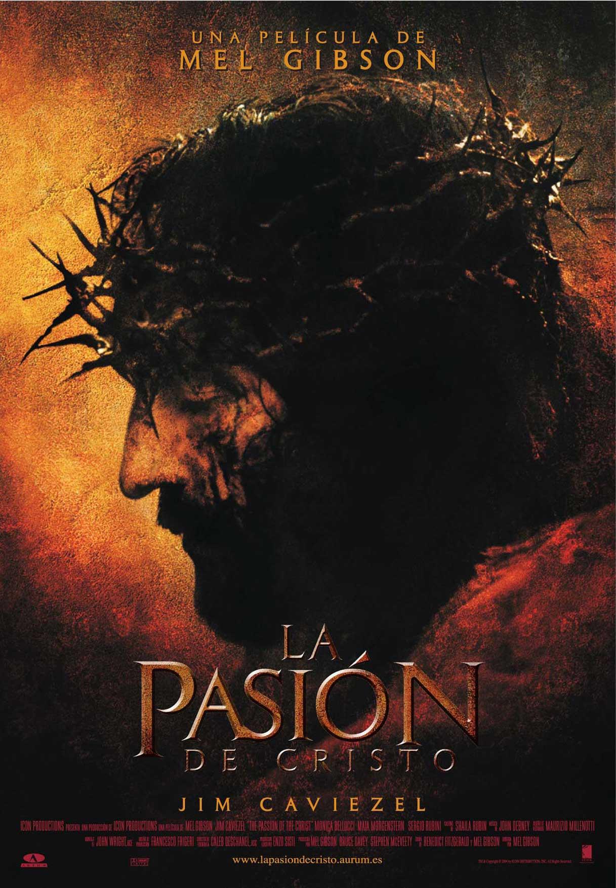 Cartel de 'La pasión de Cristo'