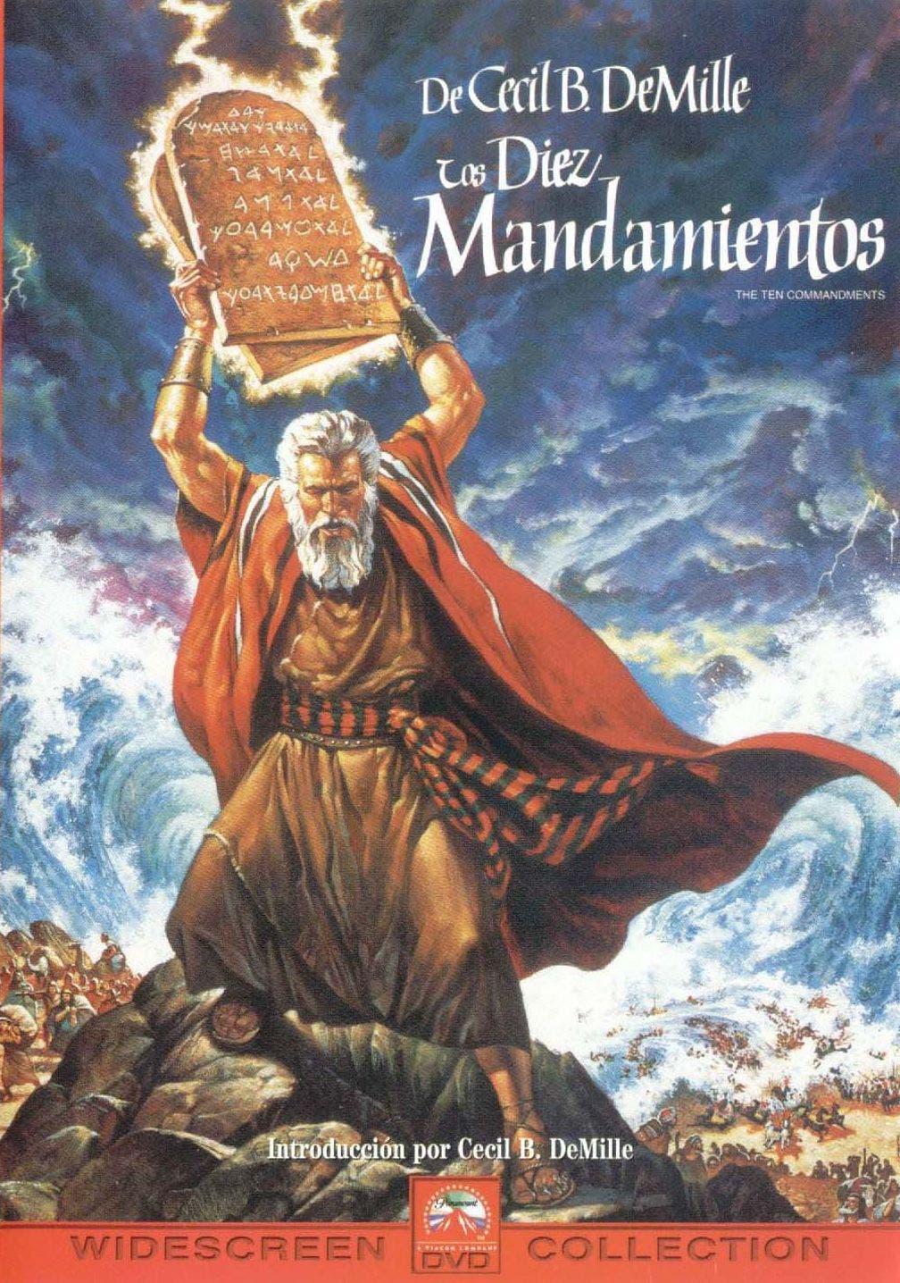 Cartel de 'Los diez mandamientos'