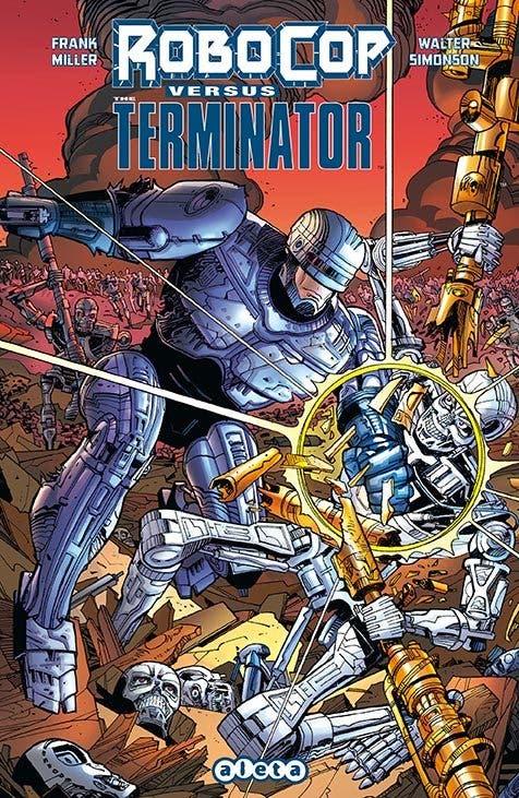 Portada del cómic 'RoboCop versus Terminator'