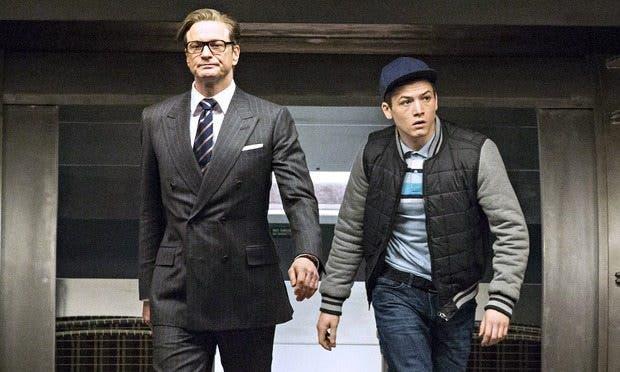 Colin Firth y Taron Egerton Kingsman