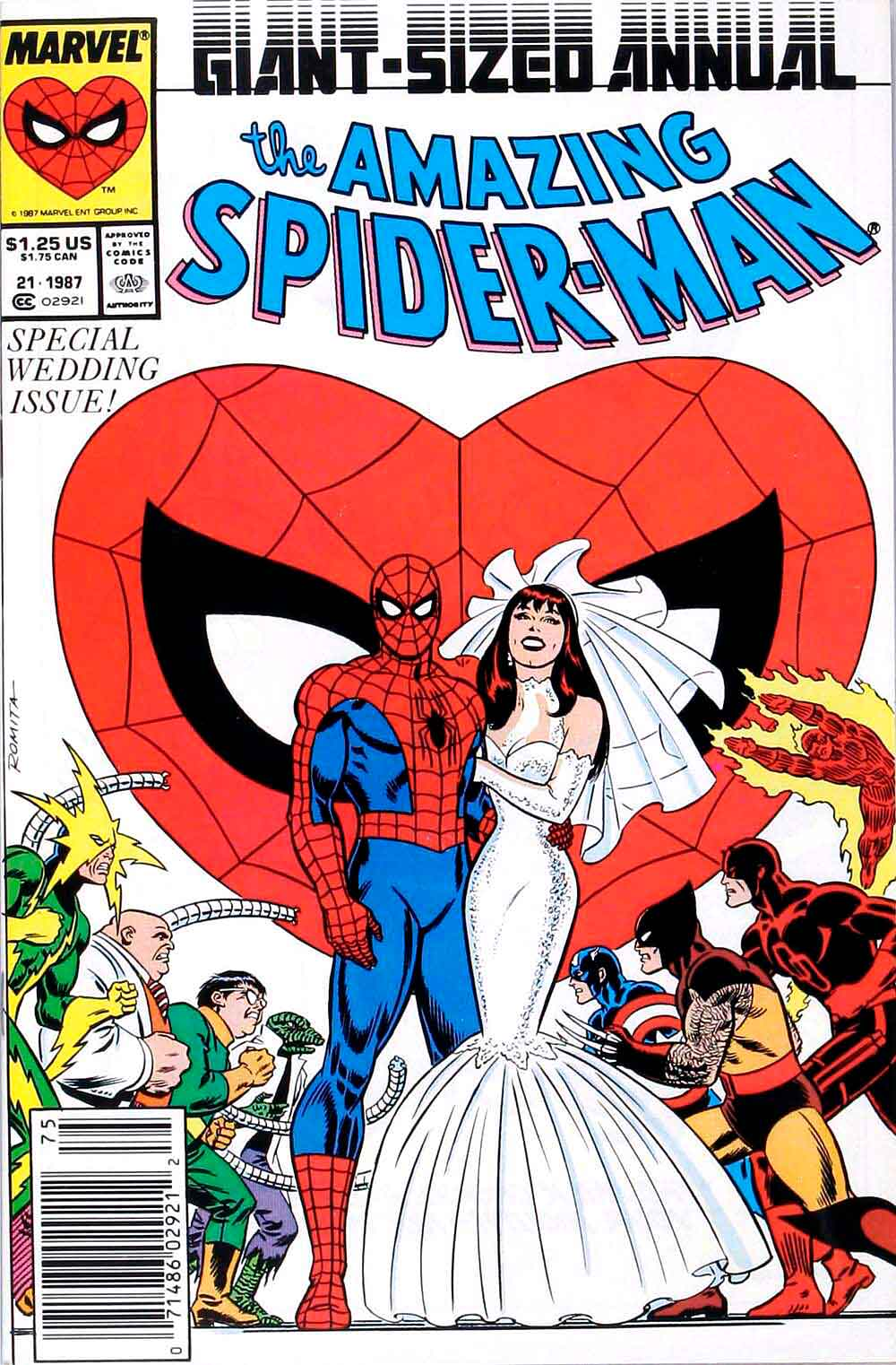 Spiderman la boda de Peter Parker y Mary Jane