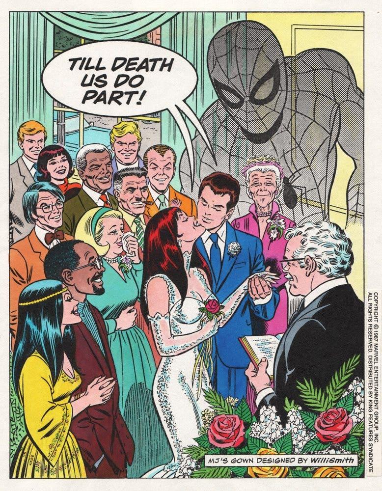 La boda de Peter Parker y Mary Jane