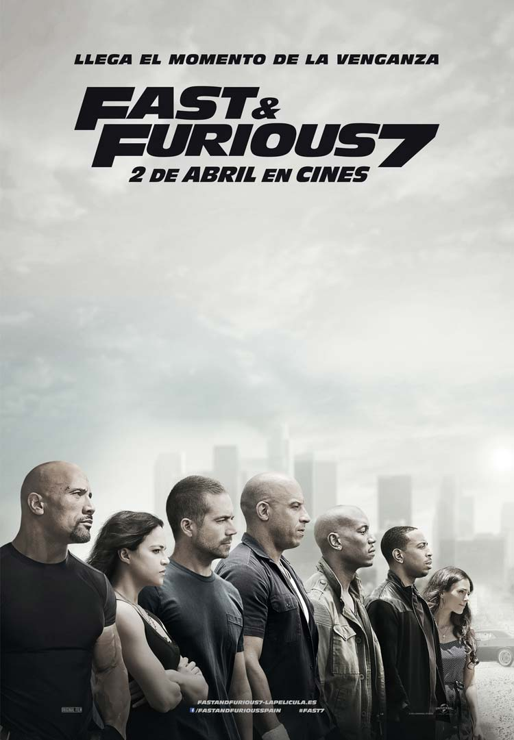 Póster final de Fast and Furious 7
